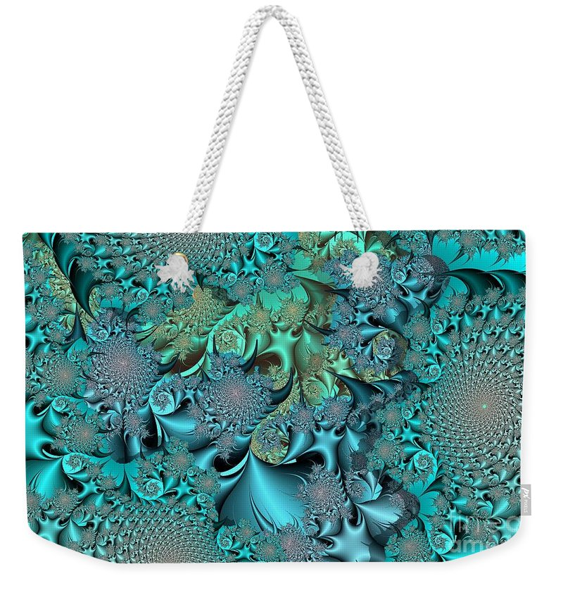 Fractal Weekender Tote Bag featuring the digital art Claws by Ron Bissett