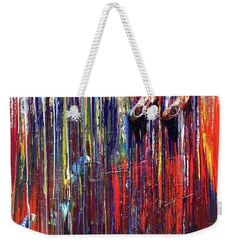 Fusionart Weekender Tote Bag featuring the painting Climbing the Wall by Ralph White