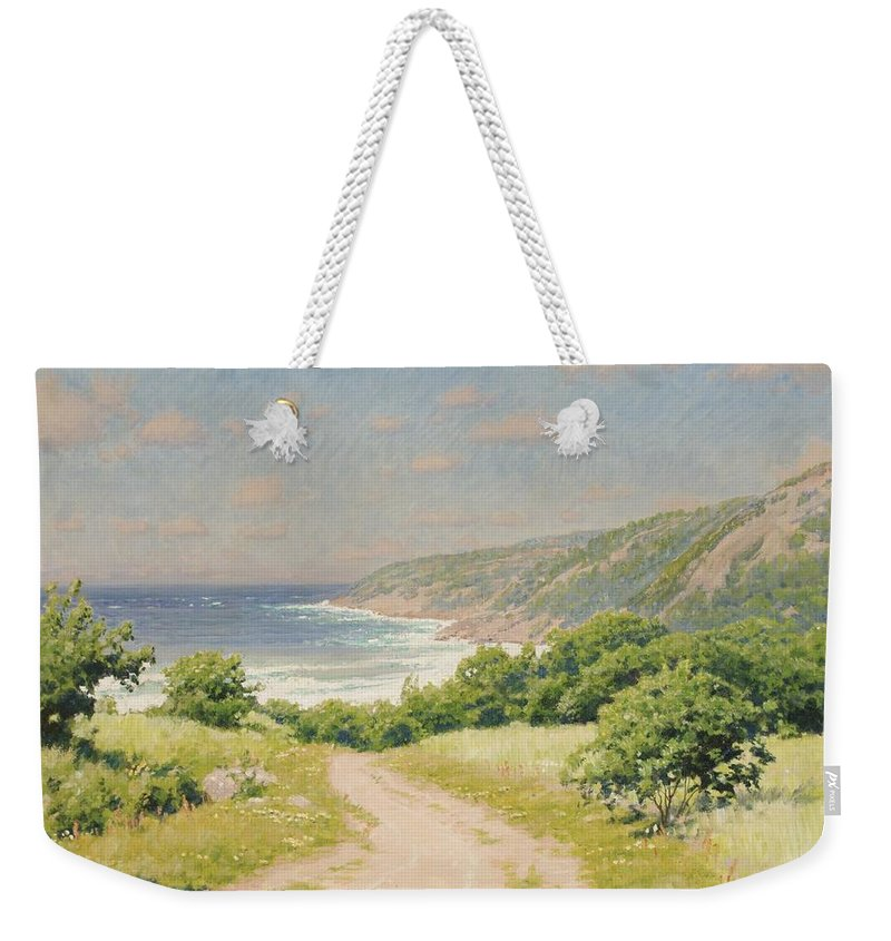 Johan KrouthÉn Weekender Tote Bag featuring the painting Coast Province by MotionAge Designs