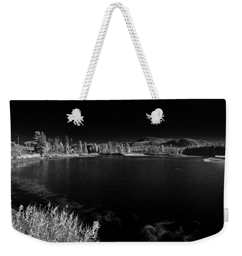 B&w Weekender Tote Bag featuring the photograph Cocolala Creek by Lee Santa