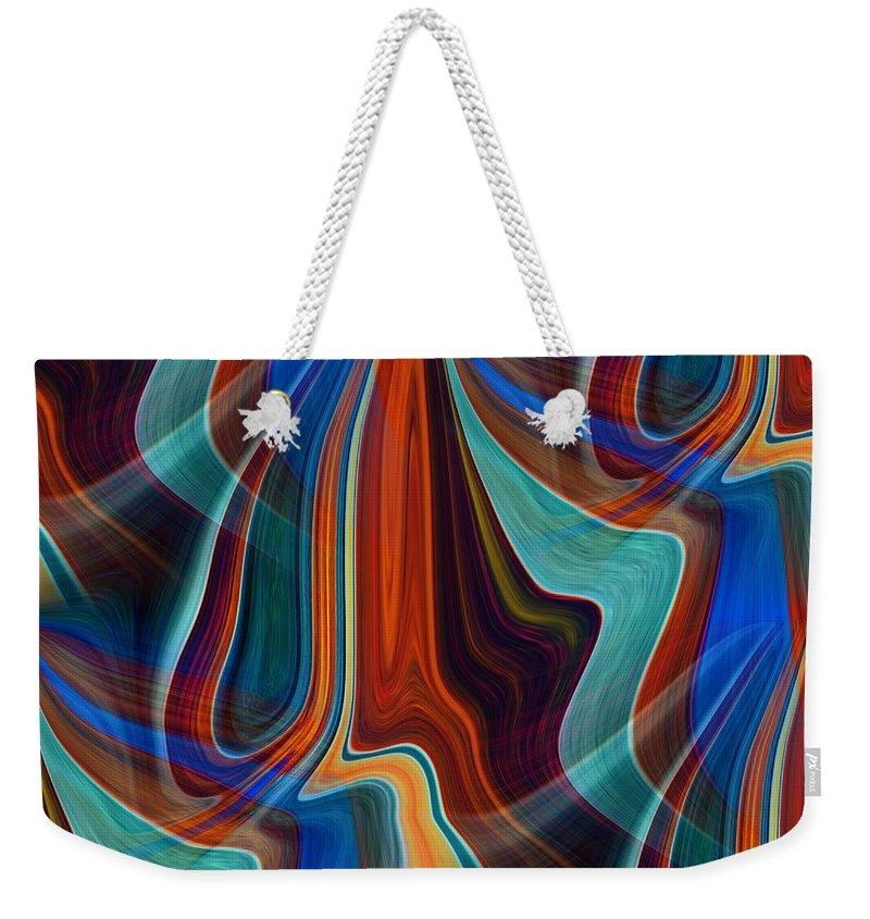 Colors Weekender Tote Bag featuring the digital art Color Me Abstract by Tim Allen