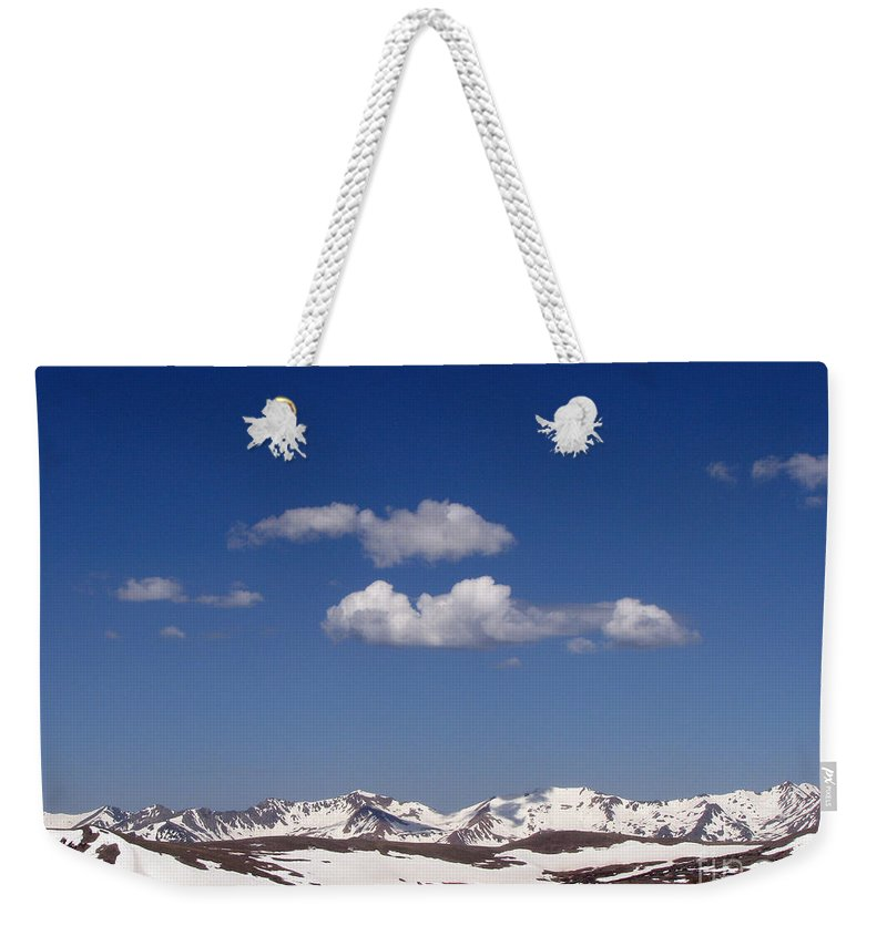 Mountains Weekender Tote Bag featuring the photograph Colorado by Amanda Barcon