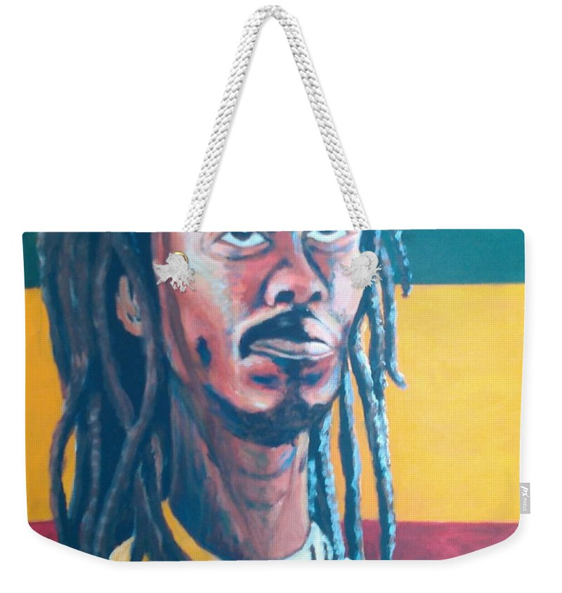 Rasta Portrait Weekender Tote Bag featuring the painting ColorPS by Andrew Johnson