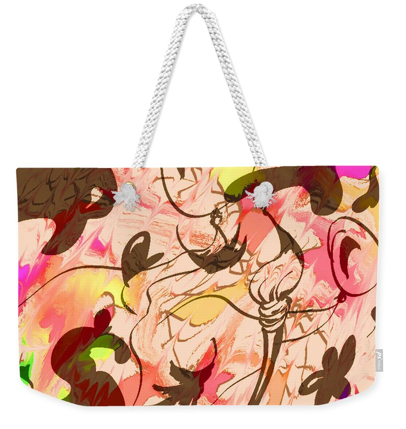 Abstract Weekender Tote Bag featuring the digital art Colors In The Wind by Rachel Christine Nowicki