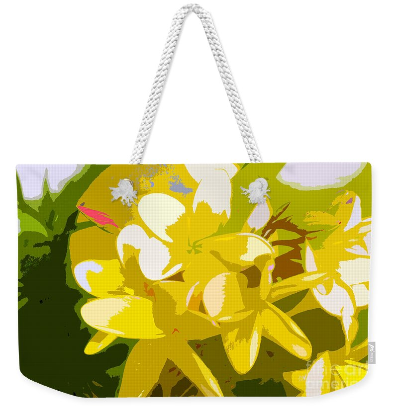 Summer Weekender Tote Bag featuring the painting Colors Of Summer by David Lee Thompson