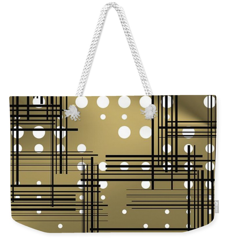 Decadent Weekender Tote Bag featuring the digital art Composition 1 by Alberto RuiZ