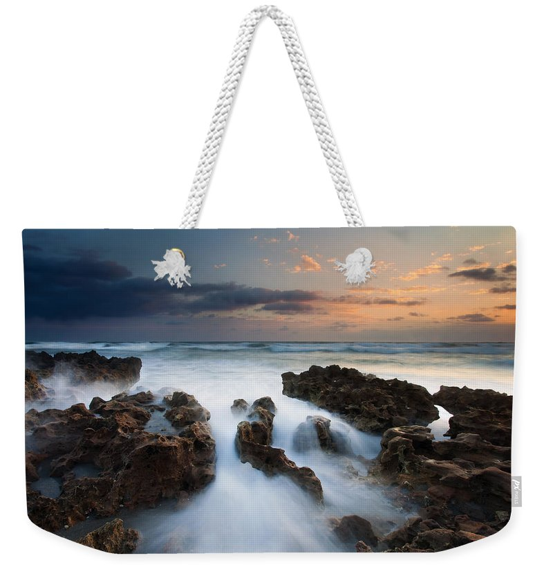 Coral Cove Weekender Tote Bag featuring the photograph Coral Cove Dawn by Mike Dawson