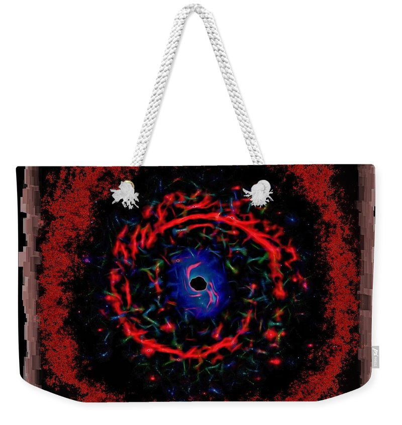 Abstract Weekender Tote Bag featuring the photograph Cosmic Eye 2 by John M Bailey