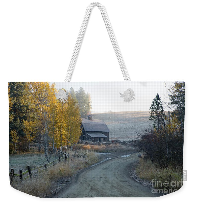 Idaho Weekender Tote Bag featuring the photograph Country Morning by Idaho Scenic Images Linda Lantzy