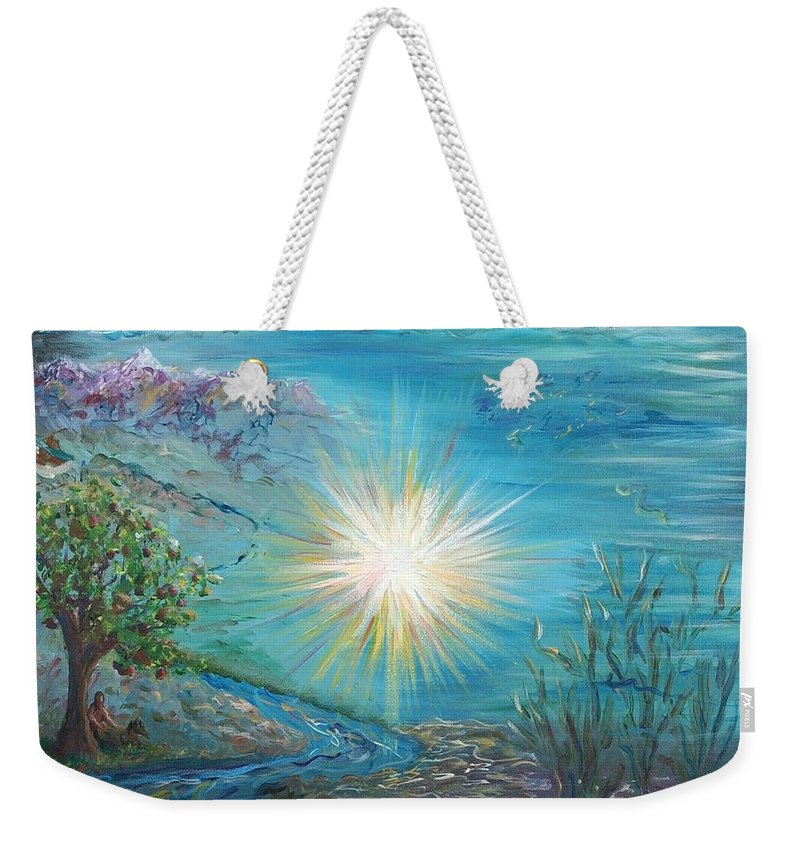 Creation Weekender Tote Bag featuring the painting Creation by Nadine Rippelmeyer