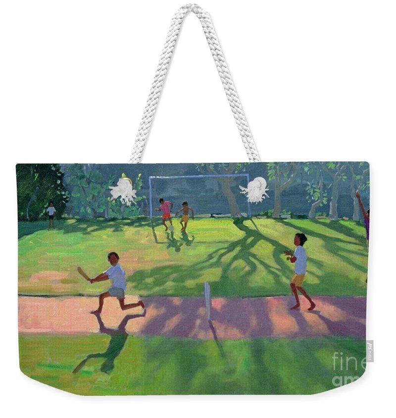 Cricket Weekender Tote Bags