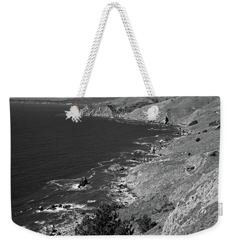 Pacific Ocean Weekender Tote Bag featuring the photograph Cruisin The Coast by Michiale Schneider
