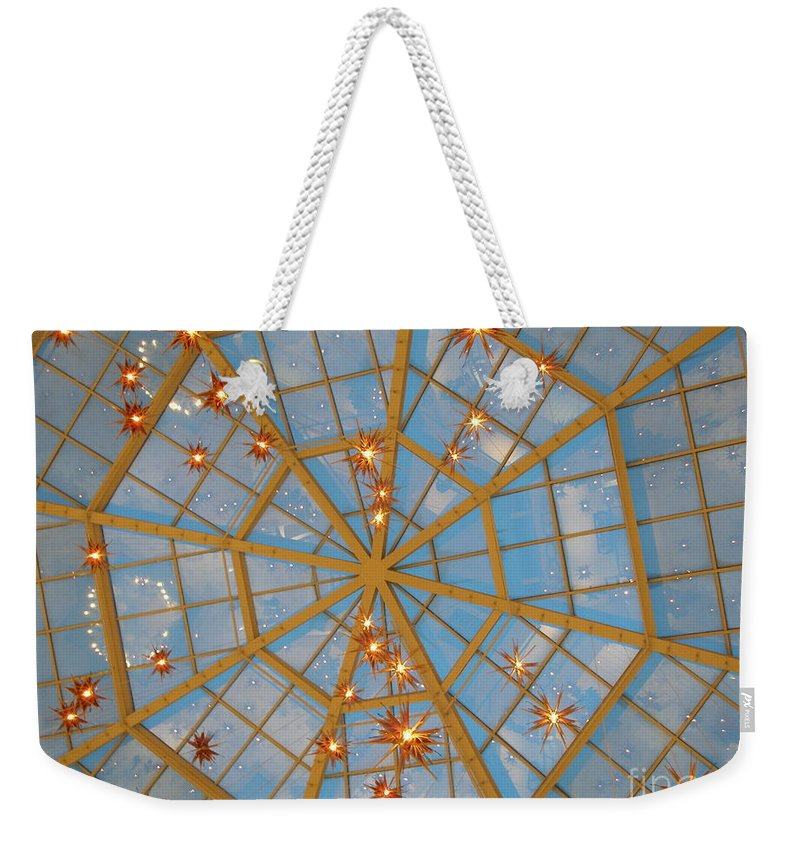 Glass Weekender Tote Bag featuring the photograph Crystal Web by Maria Bonnier-Perez