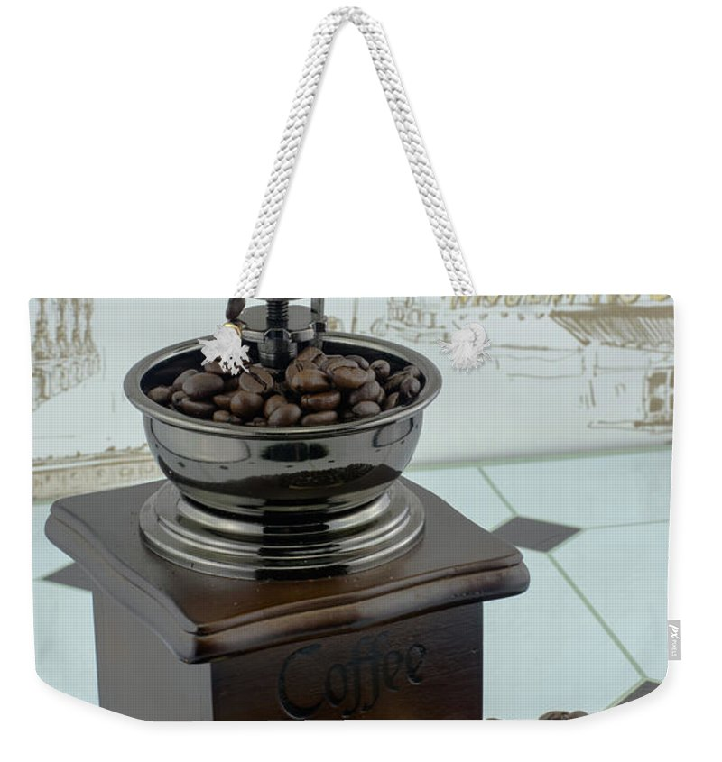 Bean Weekender Tote Bag featuring the photograph Daily Grind Coffee Beans by F Helm