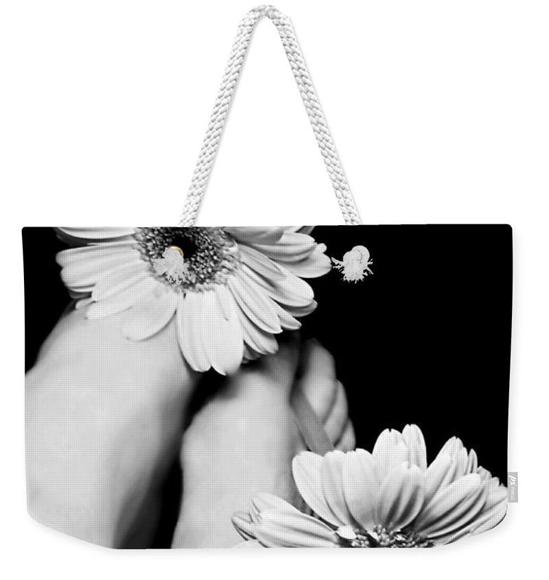 Daisy Toes Weekender Tote Bag featuring the photograph Daisy Toes by Diana Angstadt