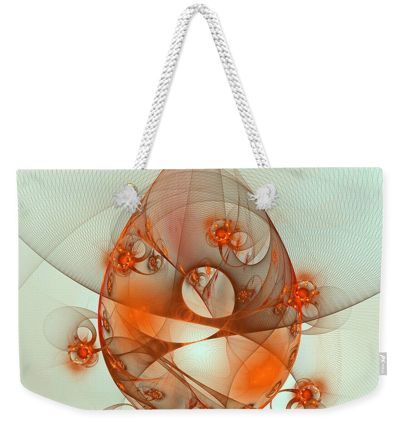 Fractal Weekender Tote Bag featuring the digital art Dance Of The Netcasters by Richard Ortolano
