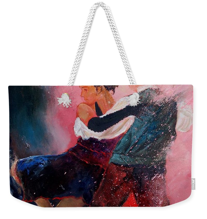 Music Weekender Tote Bag featuring the painting Dancing Tango by Pol Ledent