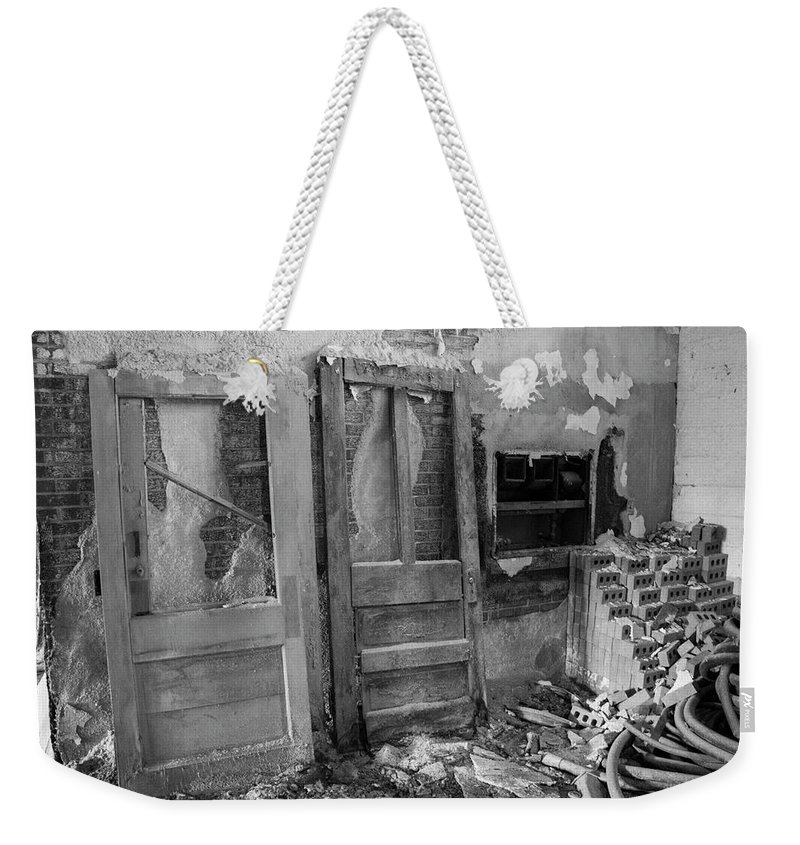 Digital Weekender Tote Bag featuring the photograph Debris by Jeff Roney