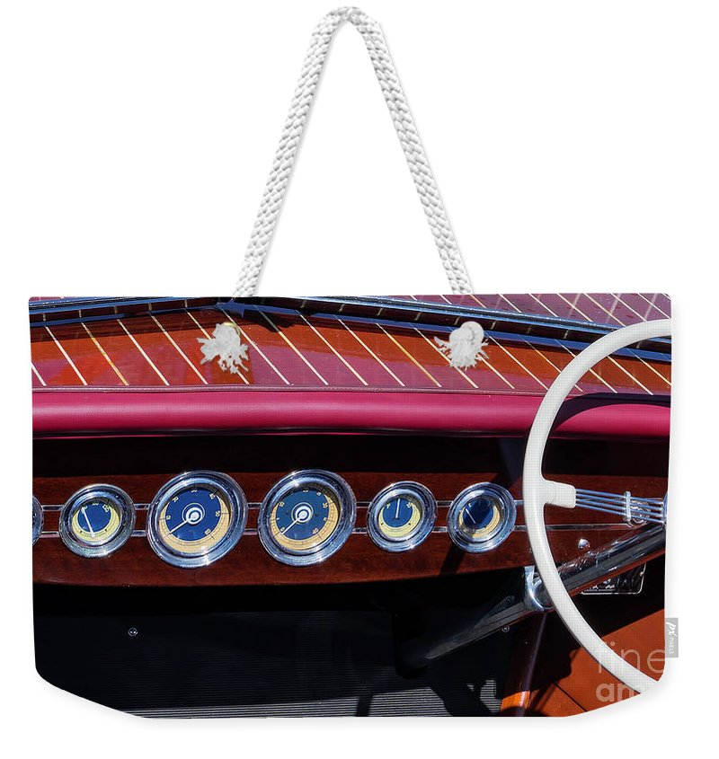 Antique Weekender Tote Bag featuring the photograph Dialed In by Joe Geraci