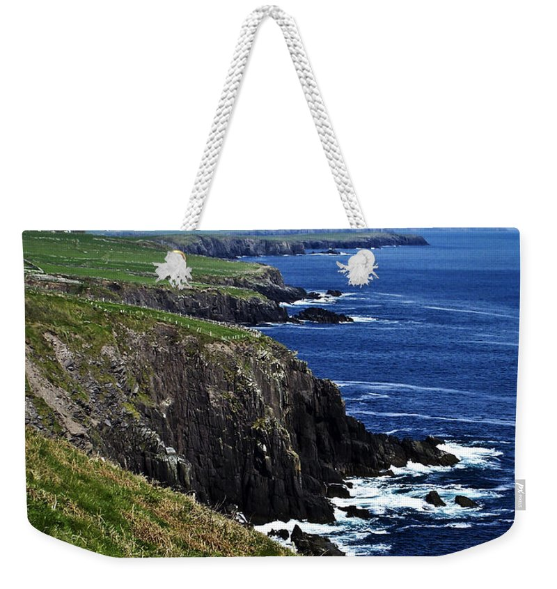 Irish Weekender Tote Bag featuring the photograph Dingle Coastline Near Fahan Ireland by Teresa Mucha