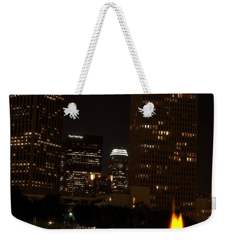 Clay Weekender Tote Bag featuring the photograph Downtown L.a. In Hdr by Clayton Bruster