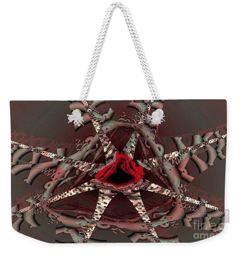 Dream Catcher Weekender Tote Bag featuring the digital art Dream Catcher by Ron Bissett