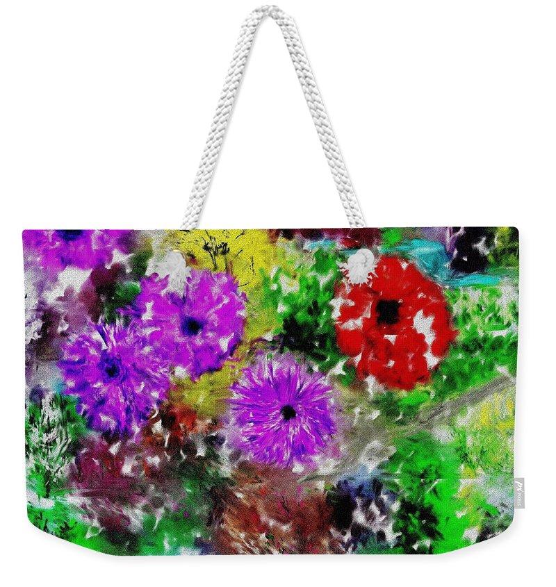 Landscape Weekender Tote Bag featuring the digital art Dream Garden II by David Lane