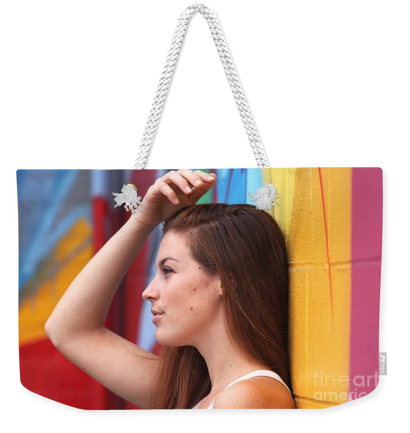 Portrait Weekender Tote Bag featuring the photograph Dream Of A Woman by Henrik Lehnerer