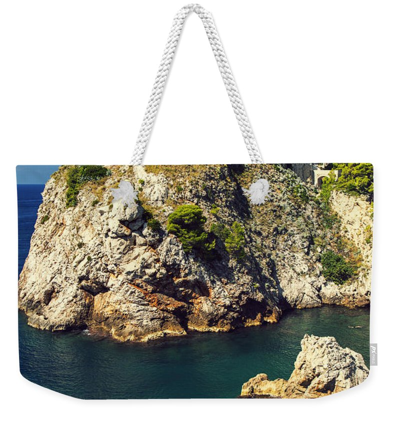 Adriatic Weekender Tote Bag featuring the photograph Dubrovnik King's Landing Fortress by Sandra Rugina