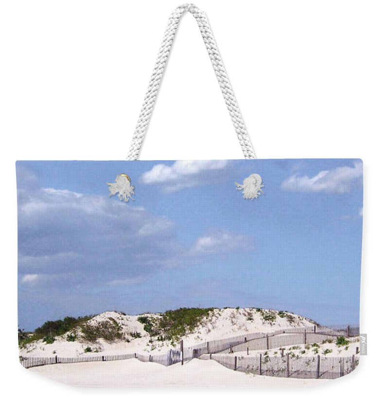 Weekender Tote Bag featuring the photograph Dunes by Iris Posner