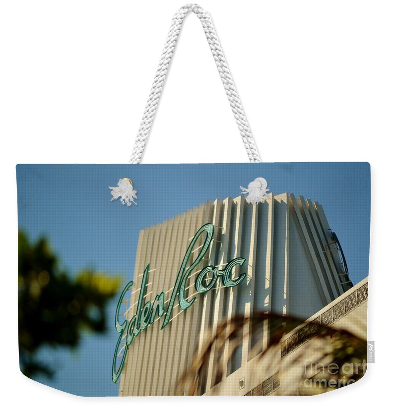 Famous Hotel Weekender Tote Bag featuring the photograph Eden Roc Hotel Miami Beach by Rene Triay Photography