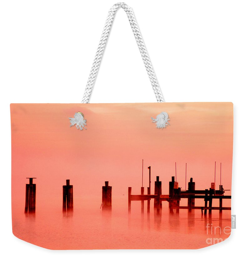 Clay Weekender Tote Bag featuring the photograph Eery Morn' by Clayton Bruster