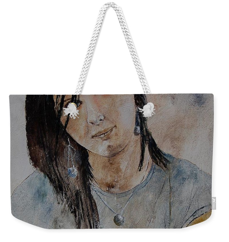 Girl Weekender Tote Bag featuring the painting Eglantine 564 by Pol Ledent