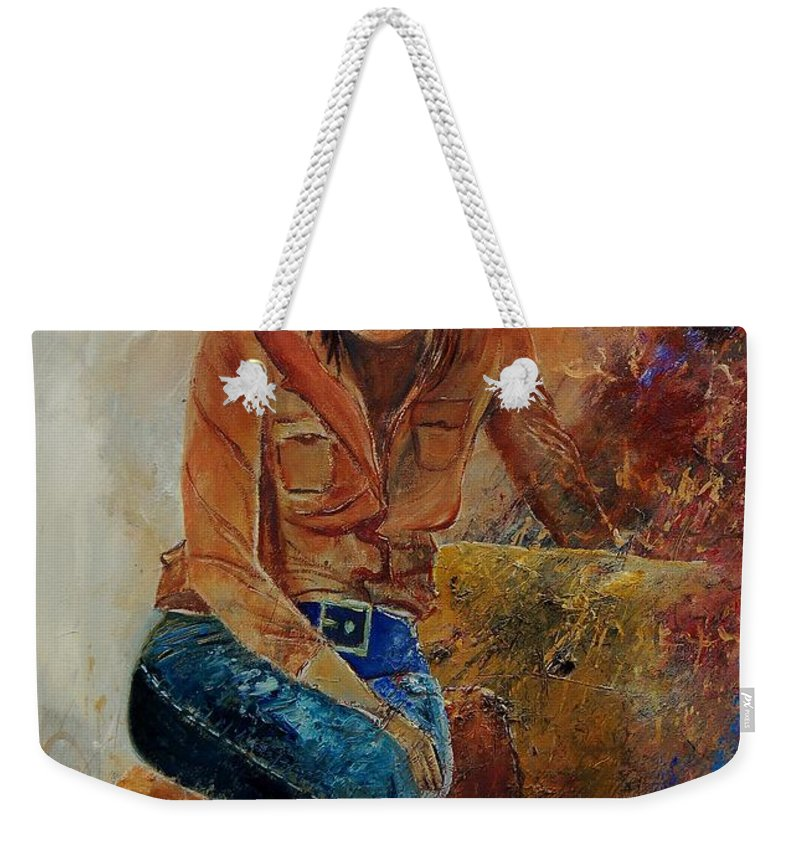 Girl Weekender Tote Bag featuring the painting Eglantine 579001 by Pol Ledent