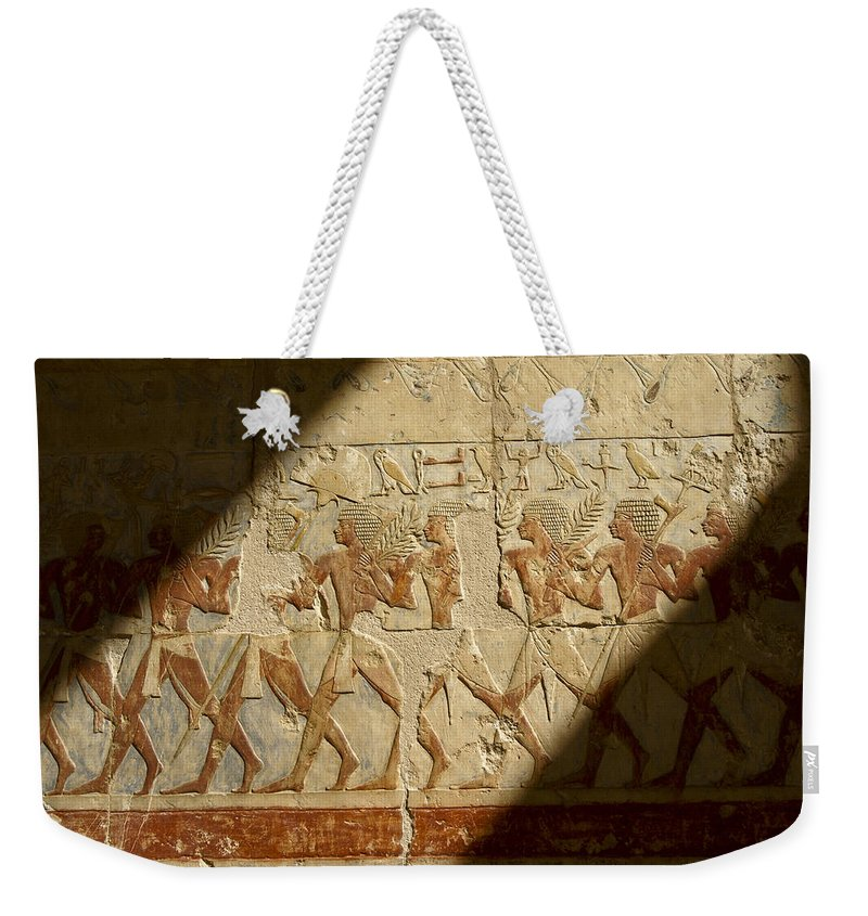 Egypt Weekender Tote Bag featuring the photograph Egyptian Relief by Michele Burgess