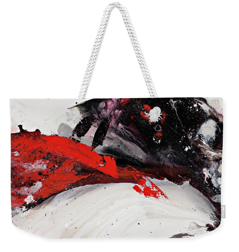 Abstract Art Weekender Tote Bag featuring the painting Embed by Kasha Ritter