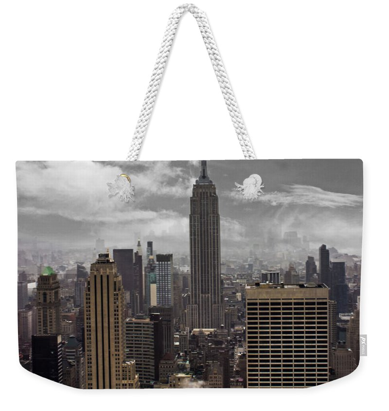 Statue Of Liberty Weekender Tote Bag featuring the photograph Empire State by Martin Newman