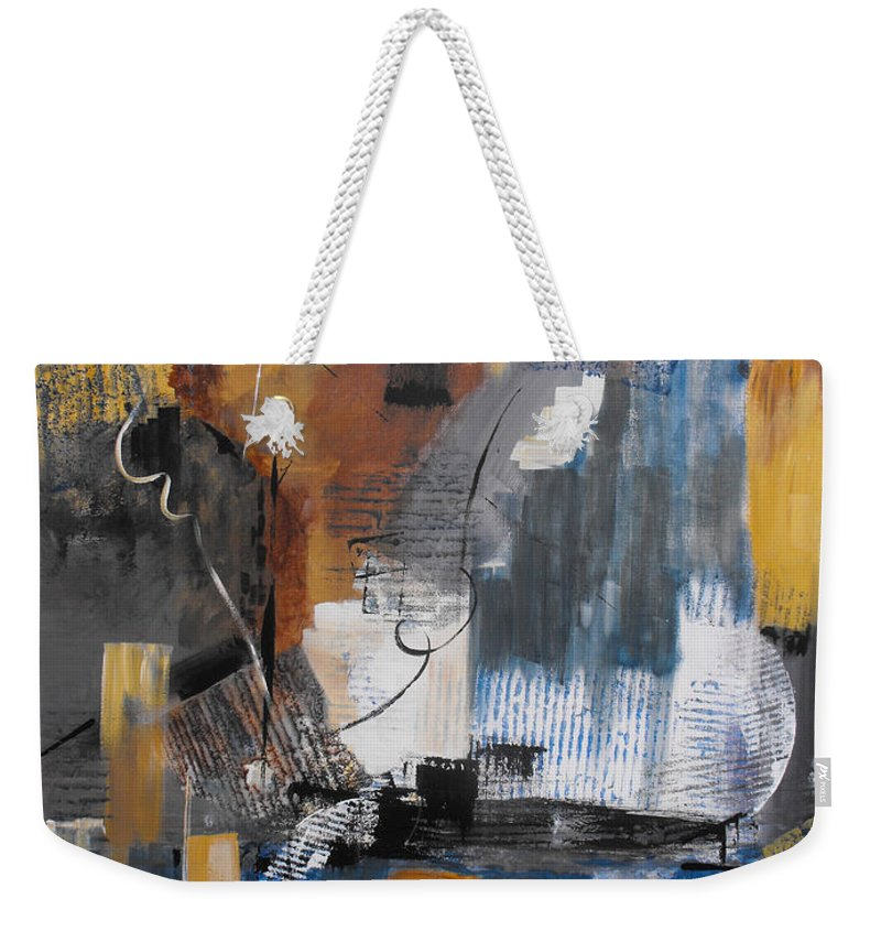 Abstract Weekender Tote Bag featuring the painting Energy by Ruth Palmer