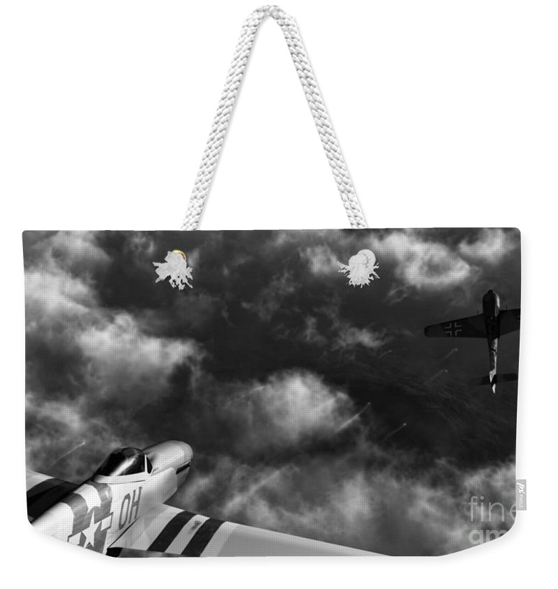 Warbirds Weekender Tote Bag featuring the digital art Evade by Richard Rizzo