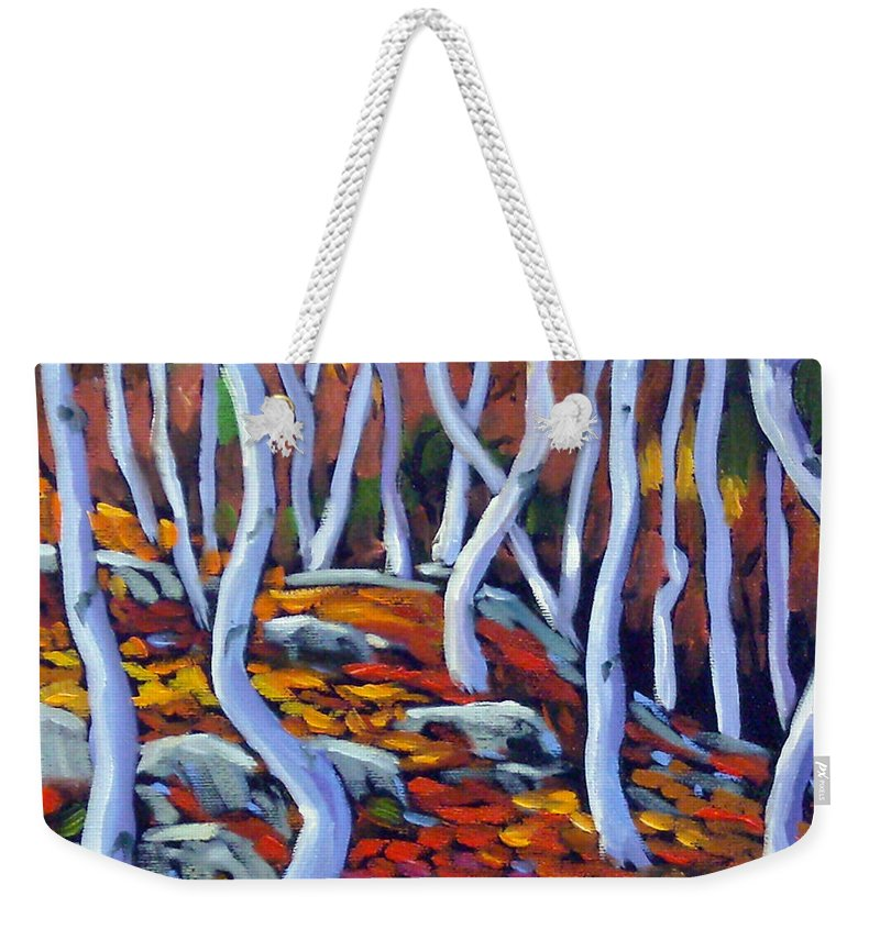Art Weekender Tote Bag featuring the painting Fantaisie No 6 by Richard T Pranke