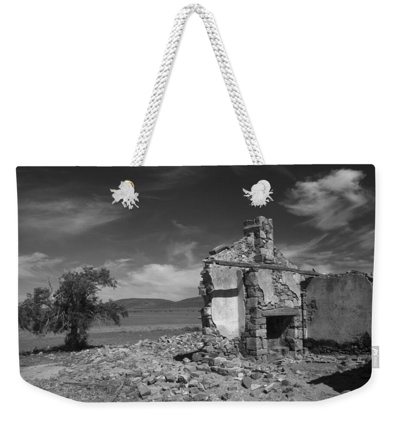 Cottage Weekender Tote Bag featuring the photograph Farmhouse Cottage Ruin Flinders Ranges South Australia by Ralph A Ledergerber-Photography