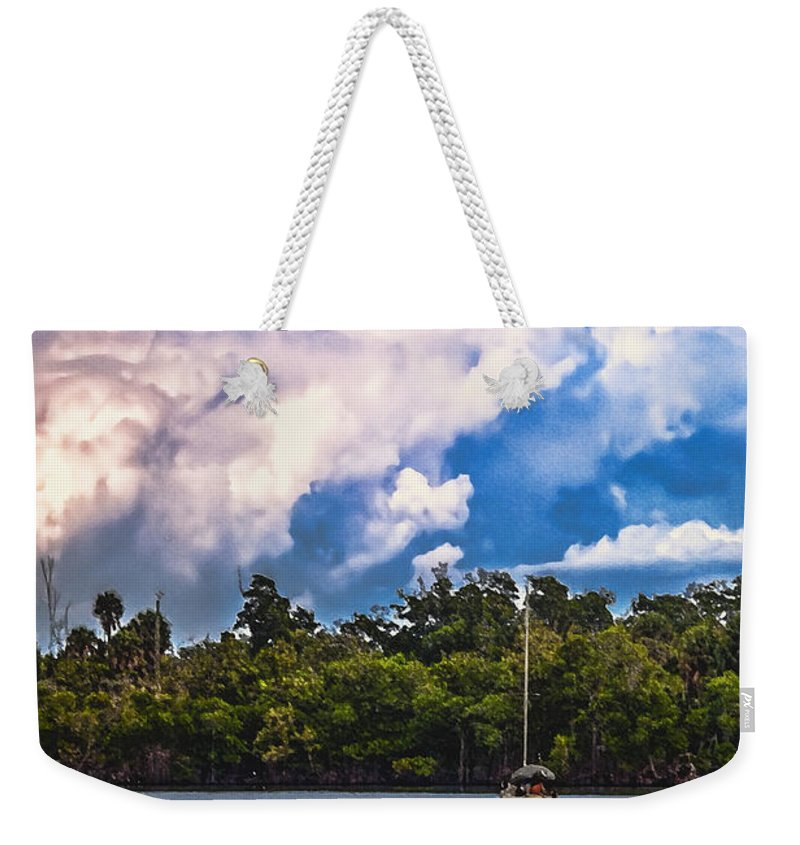 Florida Weekender Tote Bag featuring the photograph Finding Safe Harbor by Mark Fuge