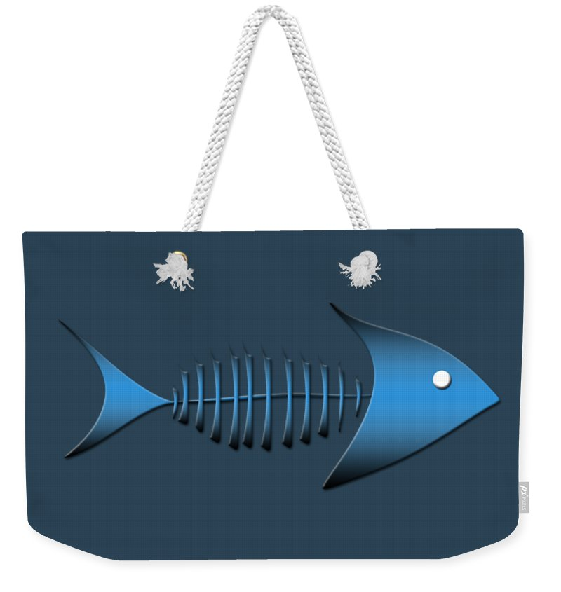 Logos Weekender Tote Bag featuring the digital art Fish by Bill Owen