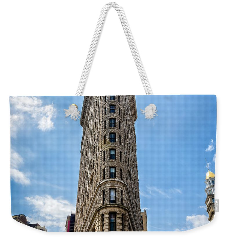 Flatiron Building Weekender Tote Bag featuring the photograph Flatiron Building Nyc Color by Alissa Beth Photography