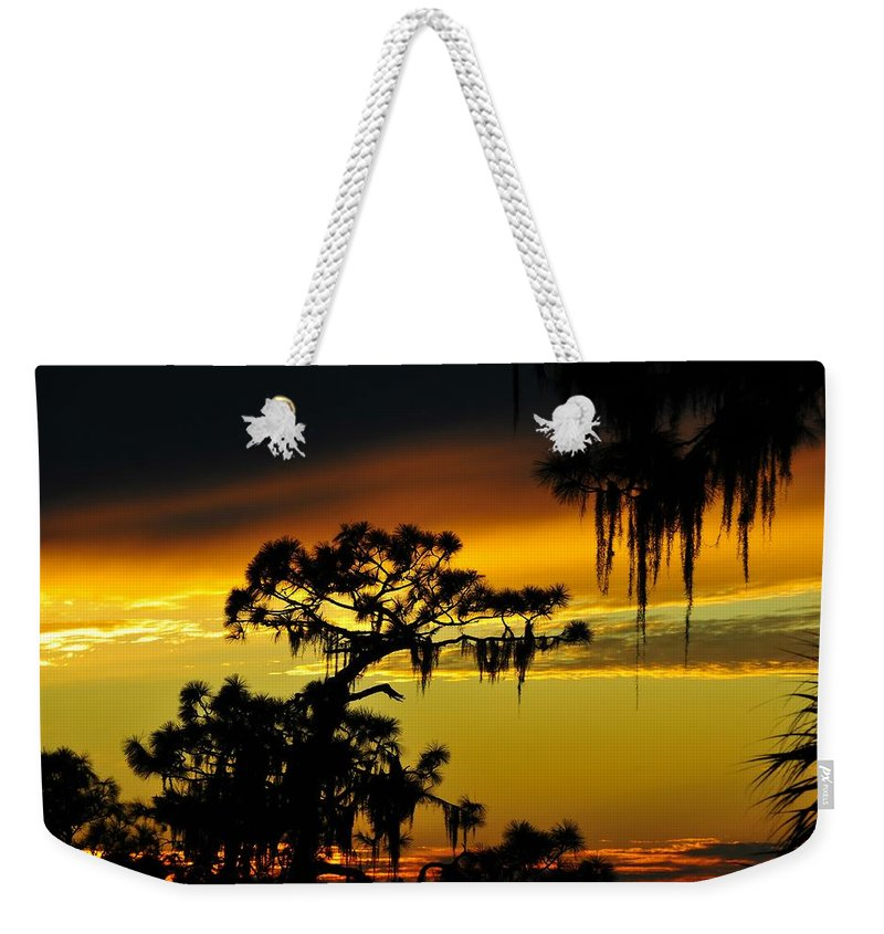Sunset Weekender Tote Bag featuring the photograph Central Florida Sunset by David Lee Thompson