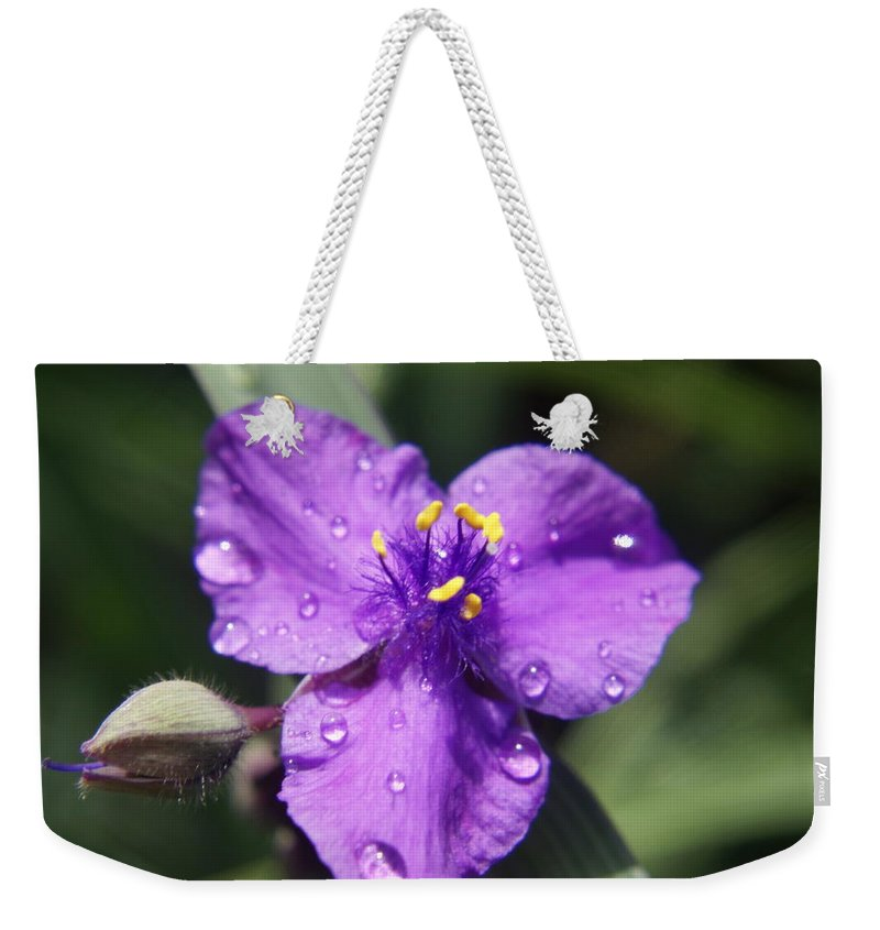 Flower Weekender Tote Bag featuring the photograph Flower by Heidi Poulin
