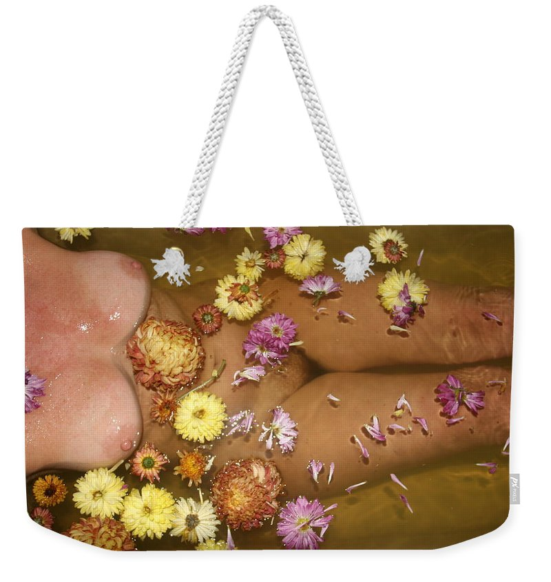 Lucky Cole Everglades Photographer Female Nude Everglades Weekender Tote Bag featuring the photograph Flowers by Lucky Cole