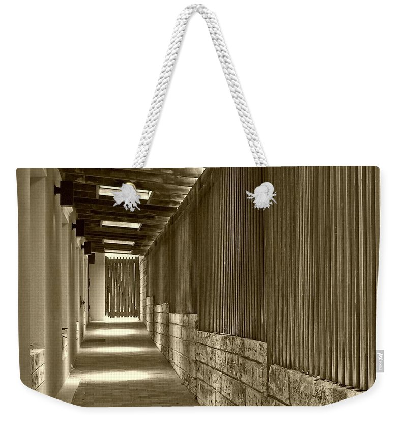 Door Weekender Tote Bag featuring the photograph Follow Me by Debbi Granruth