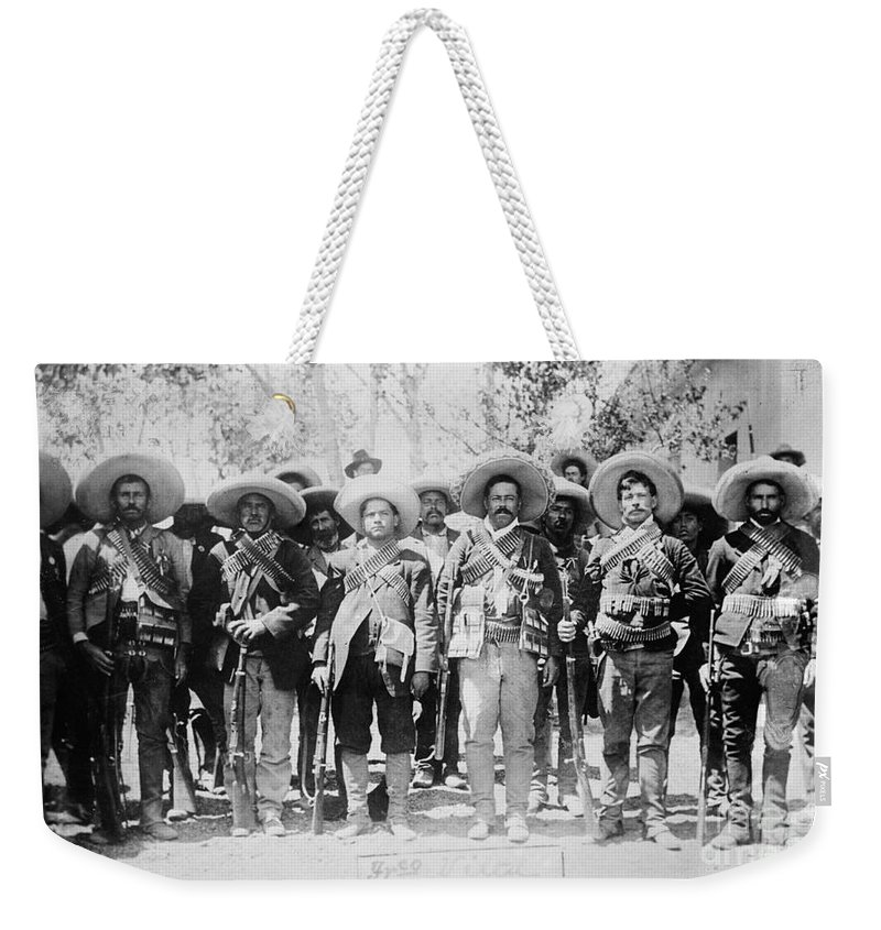 1913 Weekender Tote Bag featuring the photograph Francisco Pancho Villa by Granger