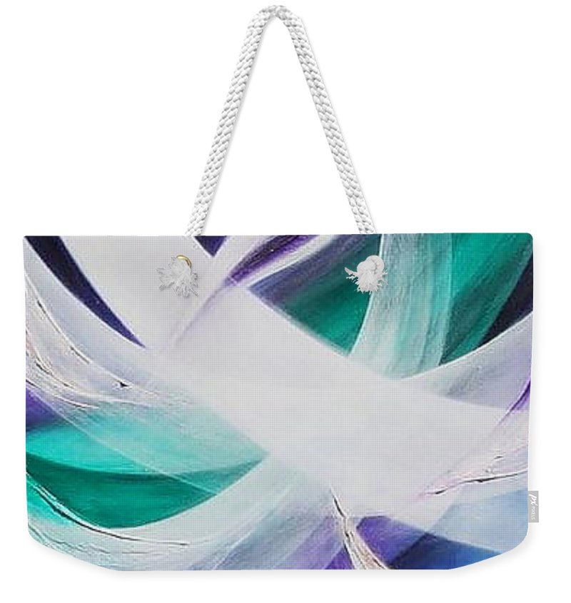 Gaia Symphony Weekender Tote Bag featuring the painting Gaia Symphony by Kumiko Mayer